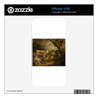 Calf and Sheep by George Morland iPhone 4S Skins
