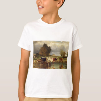 Calf cows at the marl by Constant Troyon T-Shirt