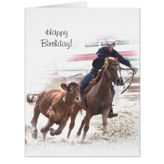 Calf cutting birthday card