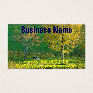 Calf in A Maine Farm Field, Fall Business Card