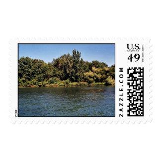 Calf Island coastline at Detroit River Internation Stamps
