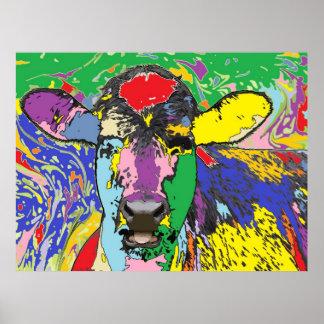 Calf Portrait 4 Print