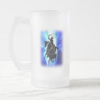 Calf Roper 101 Frosted Glass Beer Mug