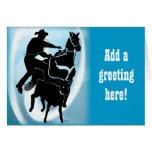 Calf Roper 203 Greeting Card