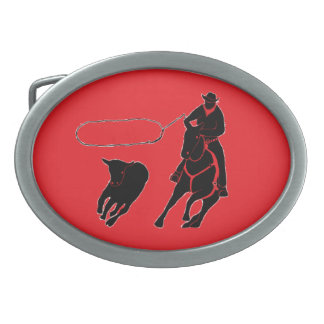 Calf Roping Belt Buckle