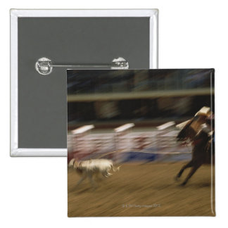 Calf Roping, Calgary Stampede 2 Inch Square Button
