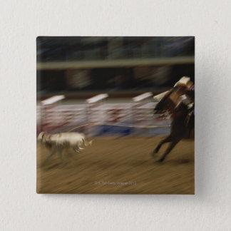 Calf Roping, Calgary Stampede Pinback Button