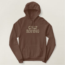 Calf Roping Embroidered Hoodie
