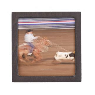 Calf roping keepsake box