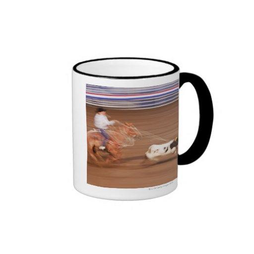 Calf roping mug