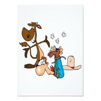 calf roping rodeo cowboy literally card