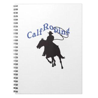 CALF ROPING SPIRAL NOTE BOOK