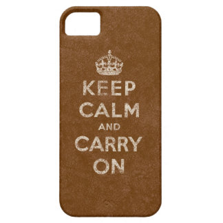 Calf Skin Keep Calm And Carry On iPhone SE/5/5s Case
