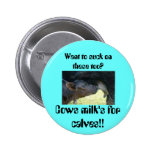 calf-suckle, Cows milk's for calves!!, Want to ... Pinback Button