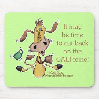 CALFfeine Cut Back Mouse Pad
