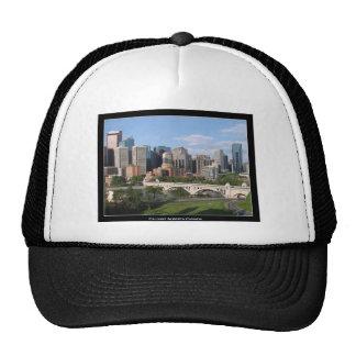 Calgary Alberta Canada Downtown Skyline View Trucker Hats
