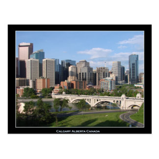 Calgary Alberta Canada Downtown Skyline View Postcard