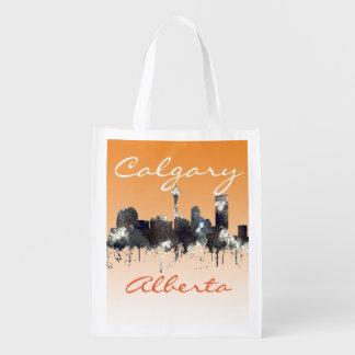 CALGARY, ALBERTA SKYLINE - CRISP - Tote bag