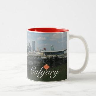 Calgary Alberta Two-Tone Coffee Mug