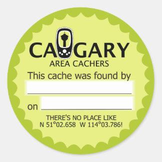 Calgary Area Cachers Found It! Stickers