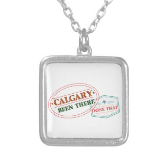 Calgary Been there done that Silver Plated Necklace