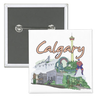Calgary - Canada.png 2 Inch Square Button