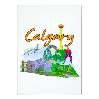 """Calgary - Canada.png Invitación 5"""" X 7"""""""