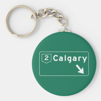 Calgary, Canada Road Sign Keychains