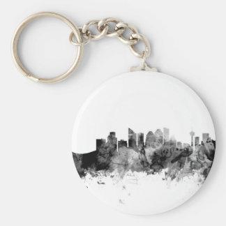 Calgary Canada Skyline Basic Round Button Key Ring