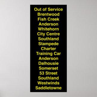 Calgary CTrain Rollsign Poster