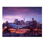 Calgary durante la postal de la puesta del sol