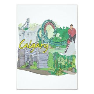 """Calgary Invitación 5"""" X 7"""""""