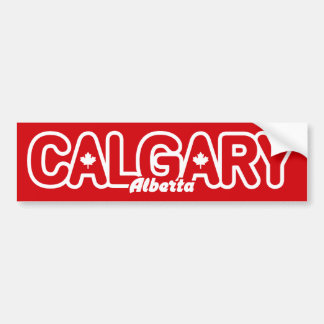 Calgary Leaf Bumper Sticker