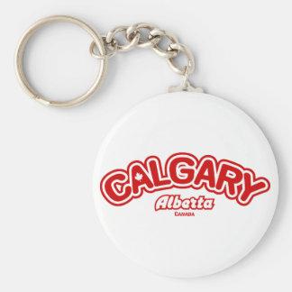 Calgary Leaf Key Chain