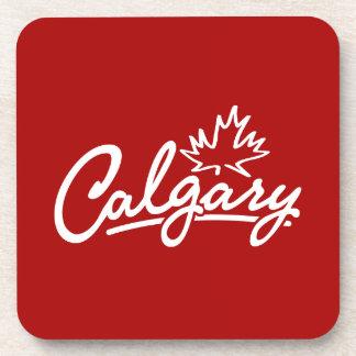 Calgary Leaf Script Coaster