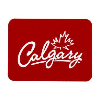 Calgary Leaf Script Rectangular Photo Magnet