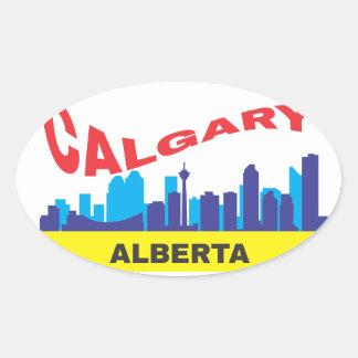 Calgary Pegatina Ovalada