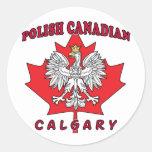 Calgary Polish Canadian Leaf Classic Round Sticker