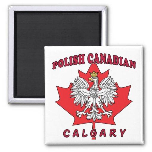 Calgary Polish Canadian Leaf Fridge Magnet