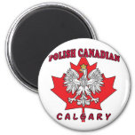 Calgary Polish Canadian Leaf Magnets