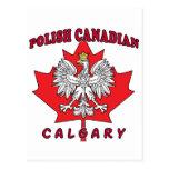 Calgary Polish Canadian Leaf Postcard