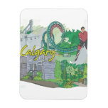 Calgary Rectangle Magnets