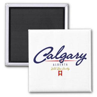 Calgary Script 2 Inch Square Magnet