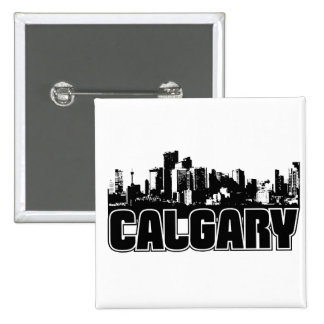 Calgary Skyline 2 Inch Square Button