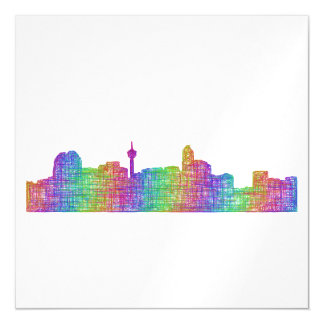 Calgary skyline magnetic card