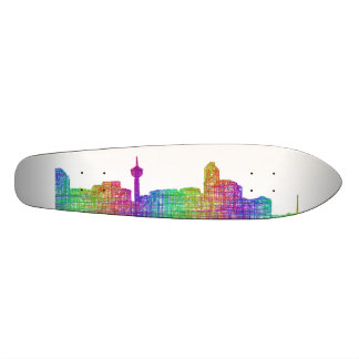 Calgary skyline skateboard