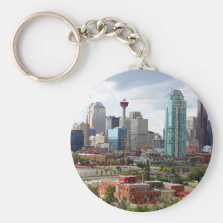 Calgary skyline with buildings and tower keychain