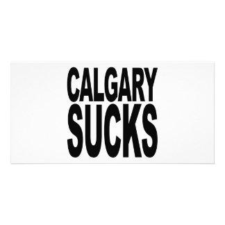 Calgary Sucks Card