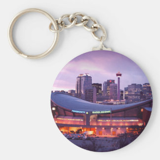 Calgary sunset keychain