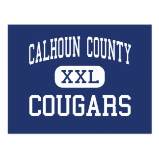 Calhoun County - Cougars - High - Edison Georgia Postcard
